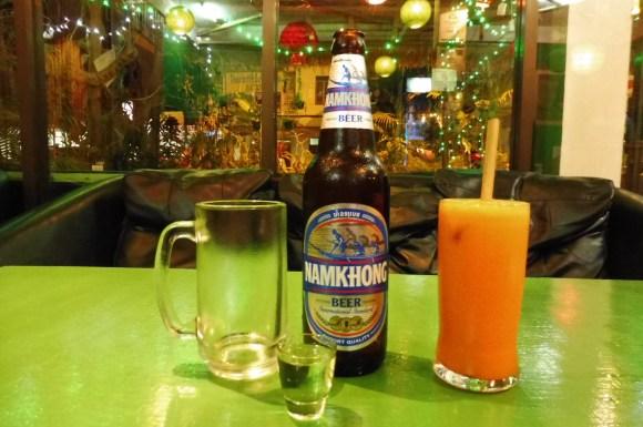 Un dernier petit verre au Bamboo Lounge de Luang Namtha ;-)