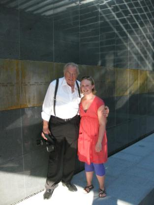 Amy with Peter Jacobi, the artist