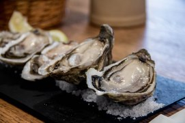 The oysters at Breizh Café are awesome. However, the crepes and cider are even better.