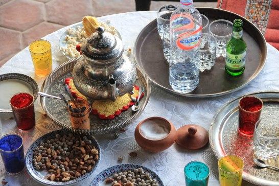 Tea time at Riad Kasbah Omar.