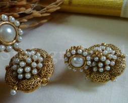 Temple Jewellery traditional jhumka / Jhumki earrings Kemp