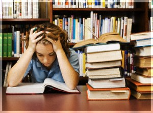 Teenage Student Studying Hard --- Image by © Randy Faris/Corbis
