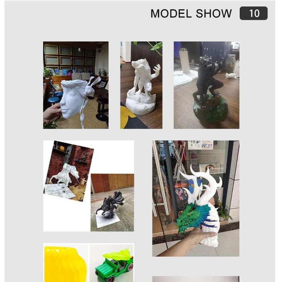 Sample model prints by Flsun Q5 3D Printer