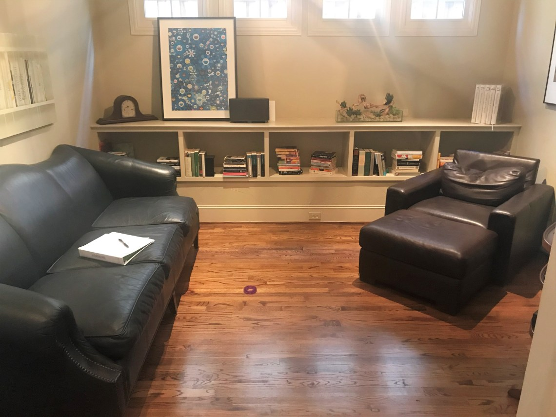 before and after family room