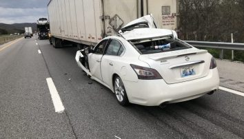 Five Vehicle Accident Backs Up Traffic for Hours on I-40