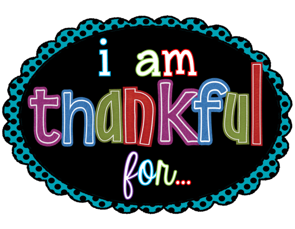 Thankful And Blessed Clip Art
