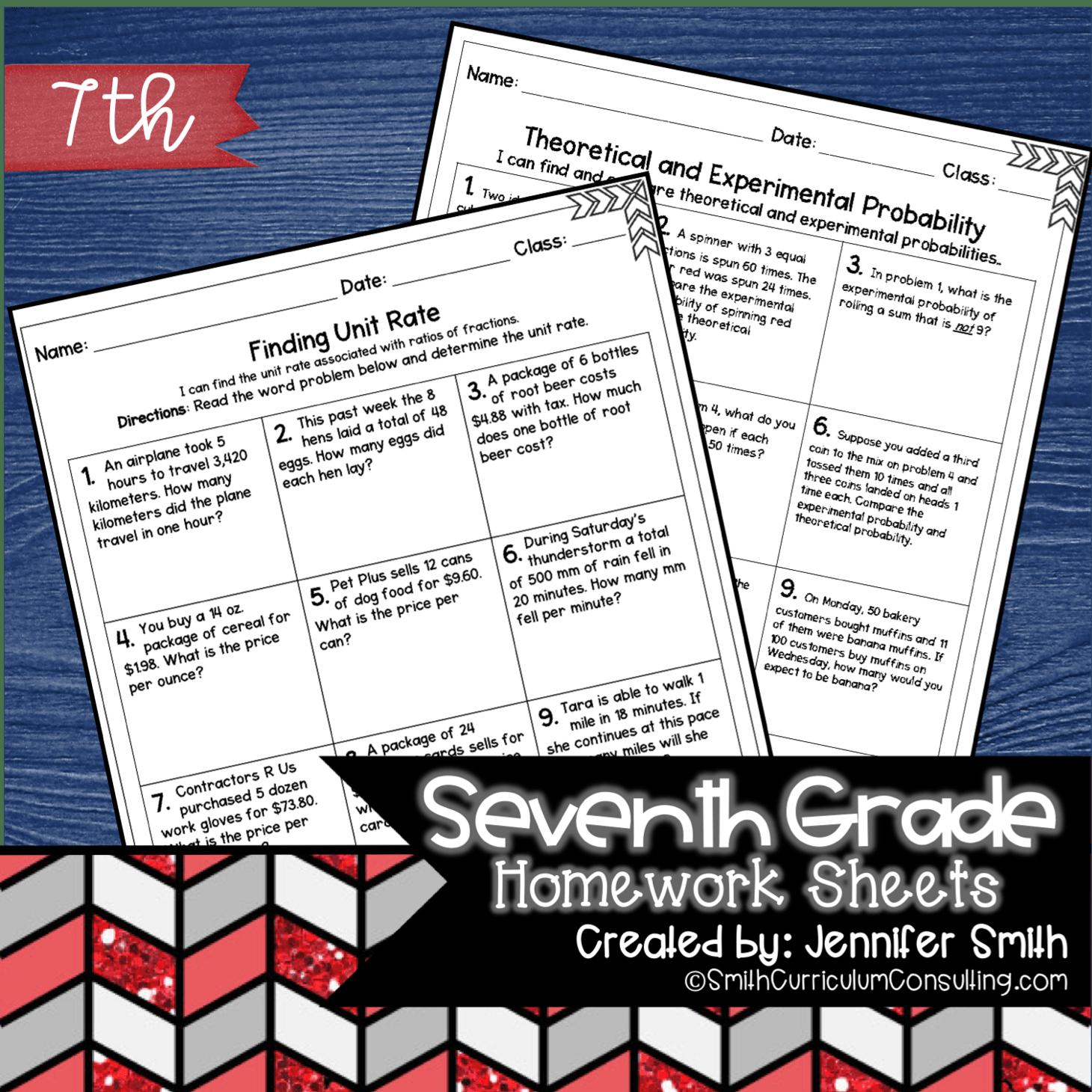Seventh Grade Math Homework