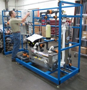 Electrical Technician working on a Water Treatment System
