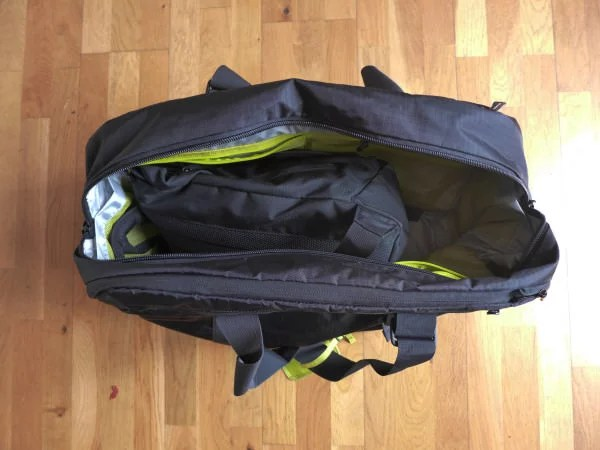 4 - rucksack in holdall