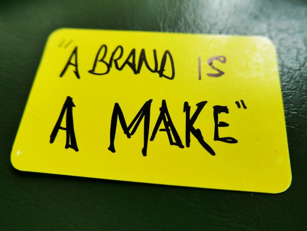 a brand is a make