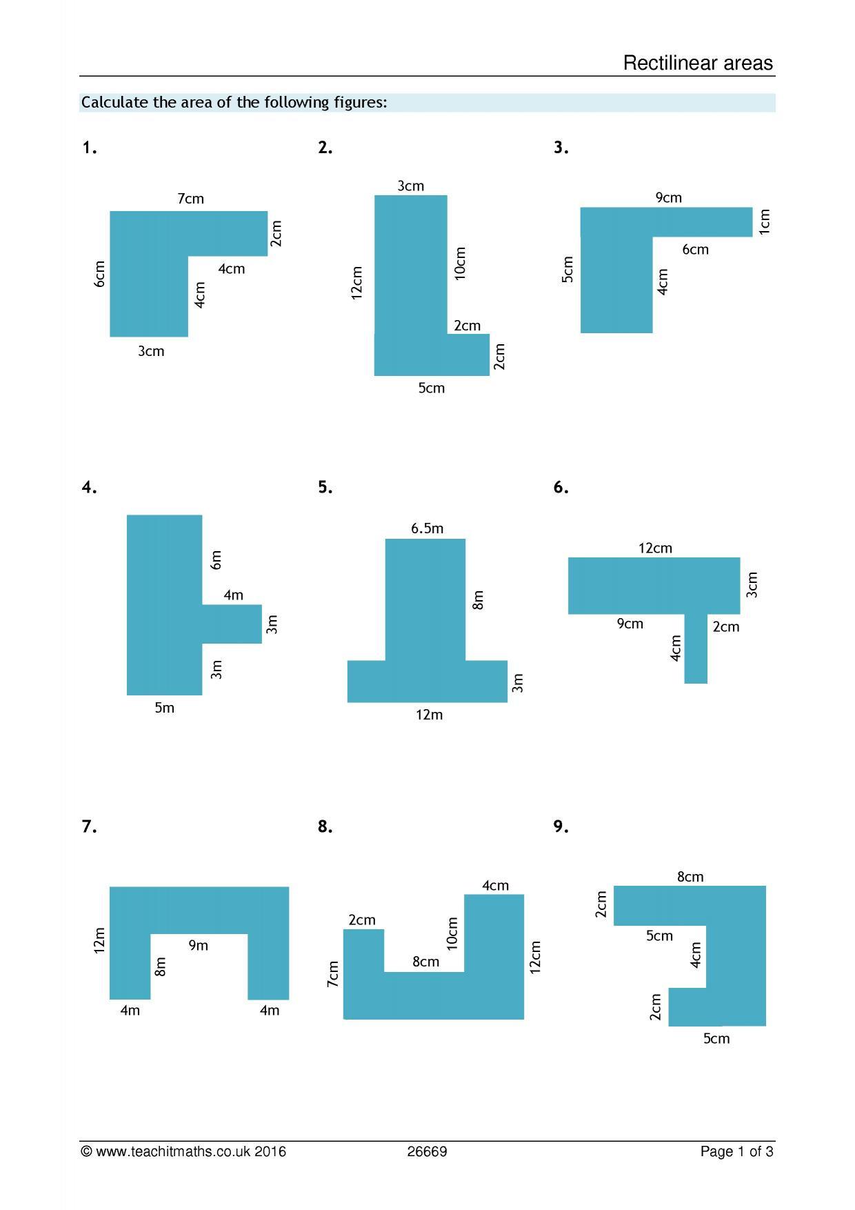 30 Area Of Composite Figures Worksheet