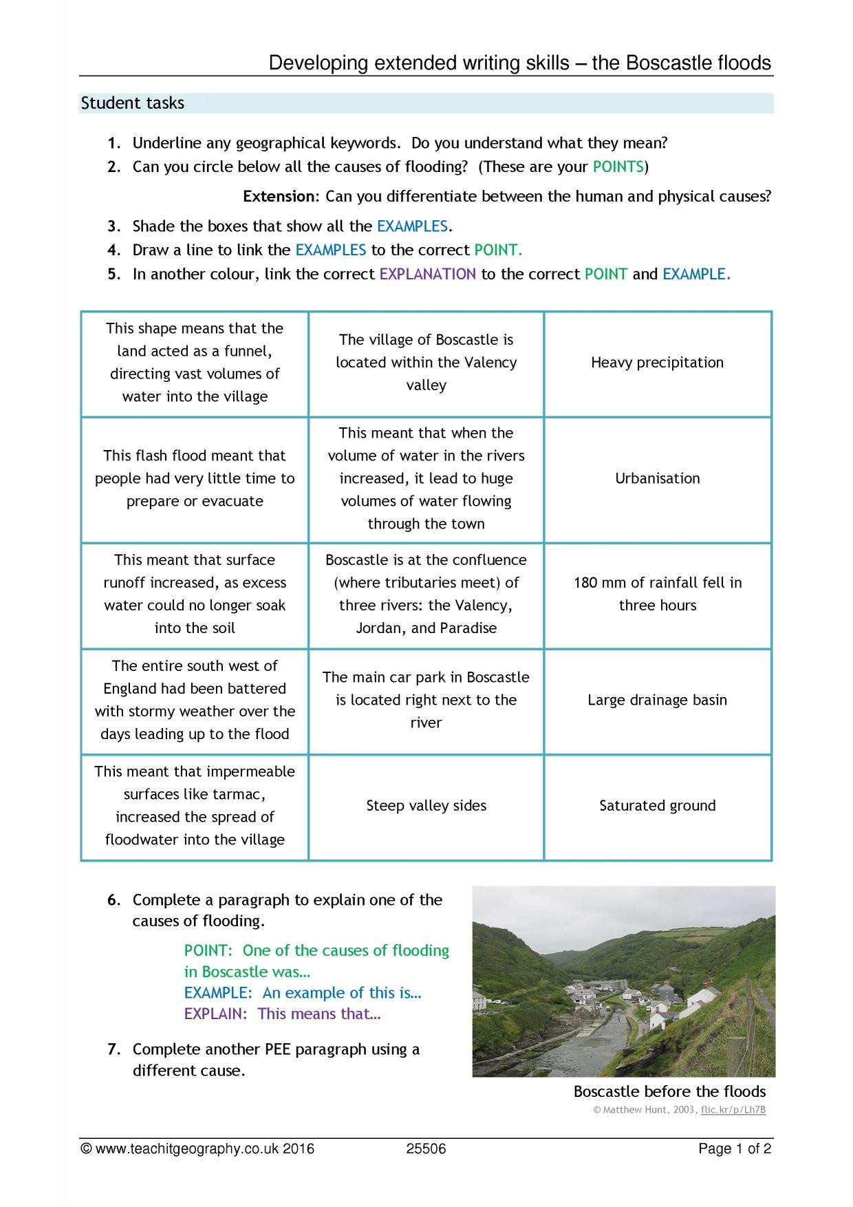 30 Before The Flood Worksheet