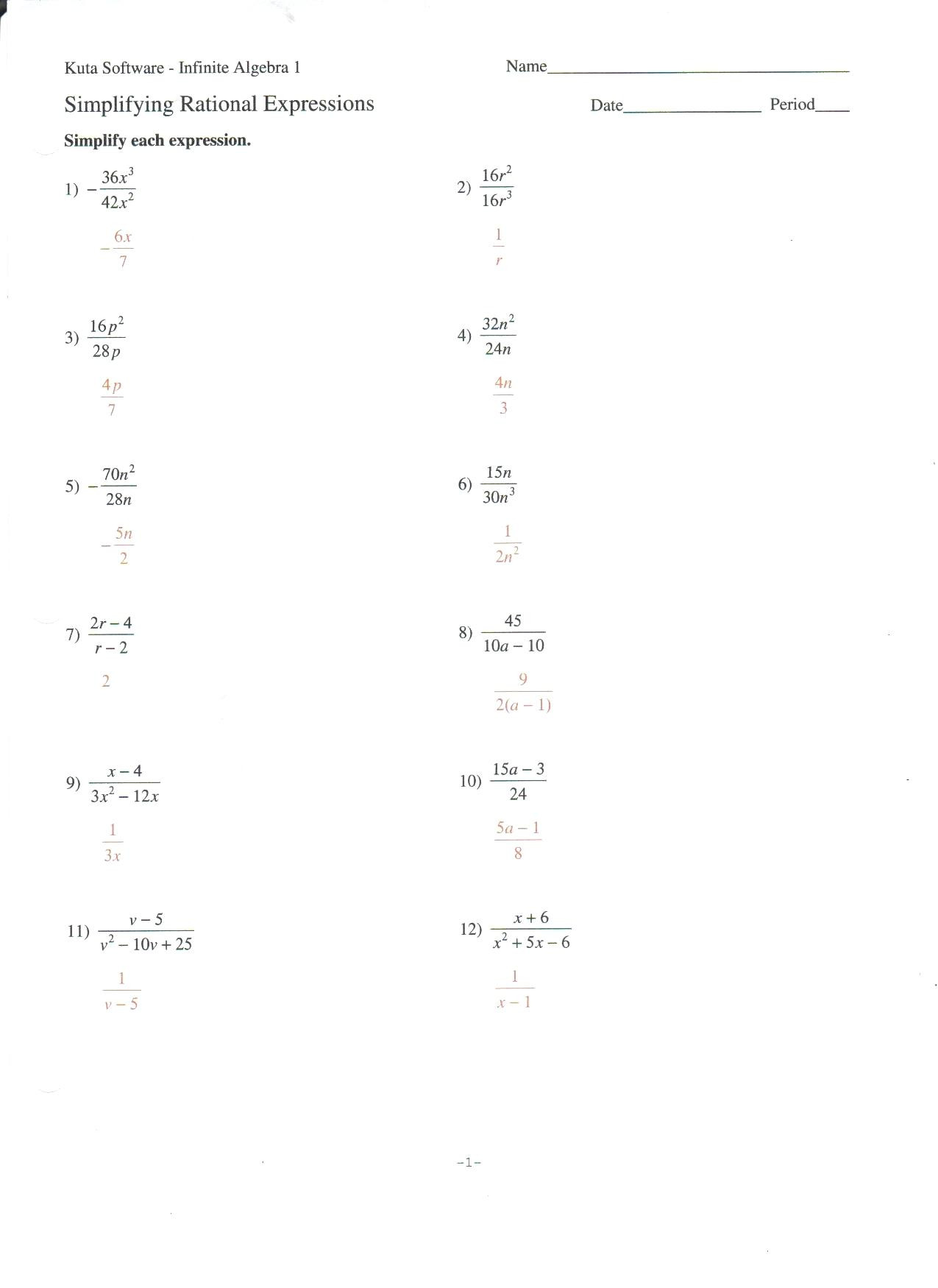 30 Combining Like Terms Worksheet