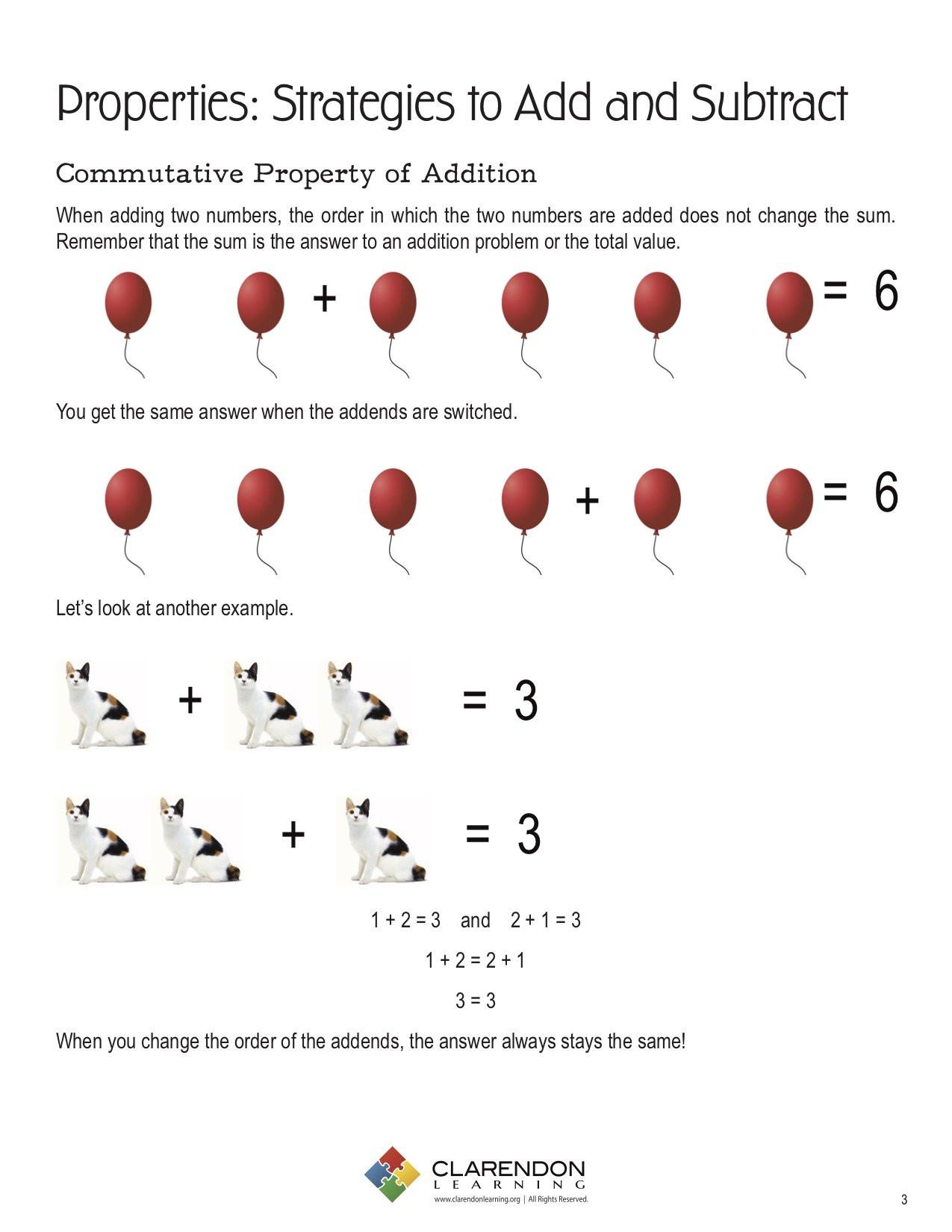 30 Commutative And Associative Properties Worksheet