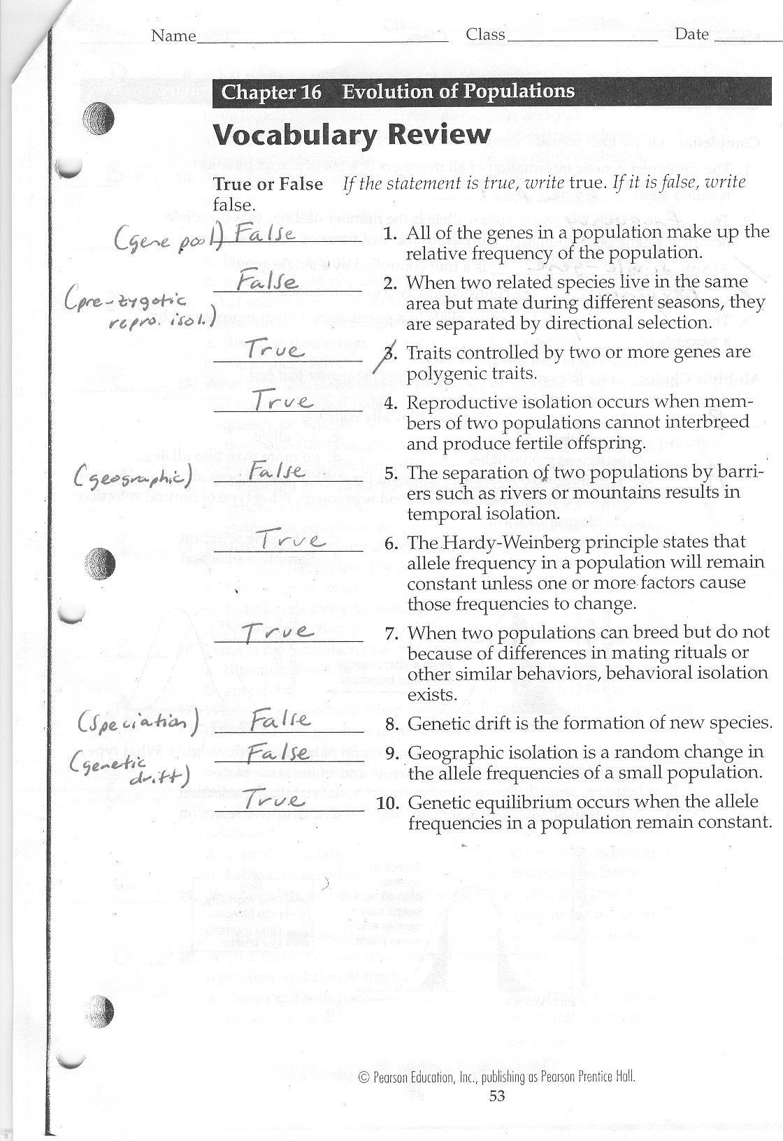 30 Evidence For Evolution Worksheet Answers