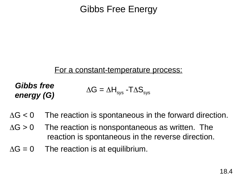 30 Gibbs Free Energy Worksheet