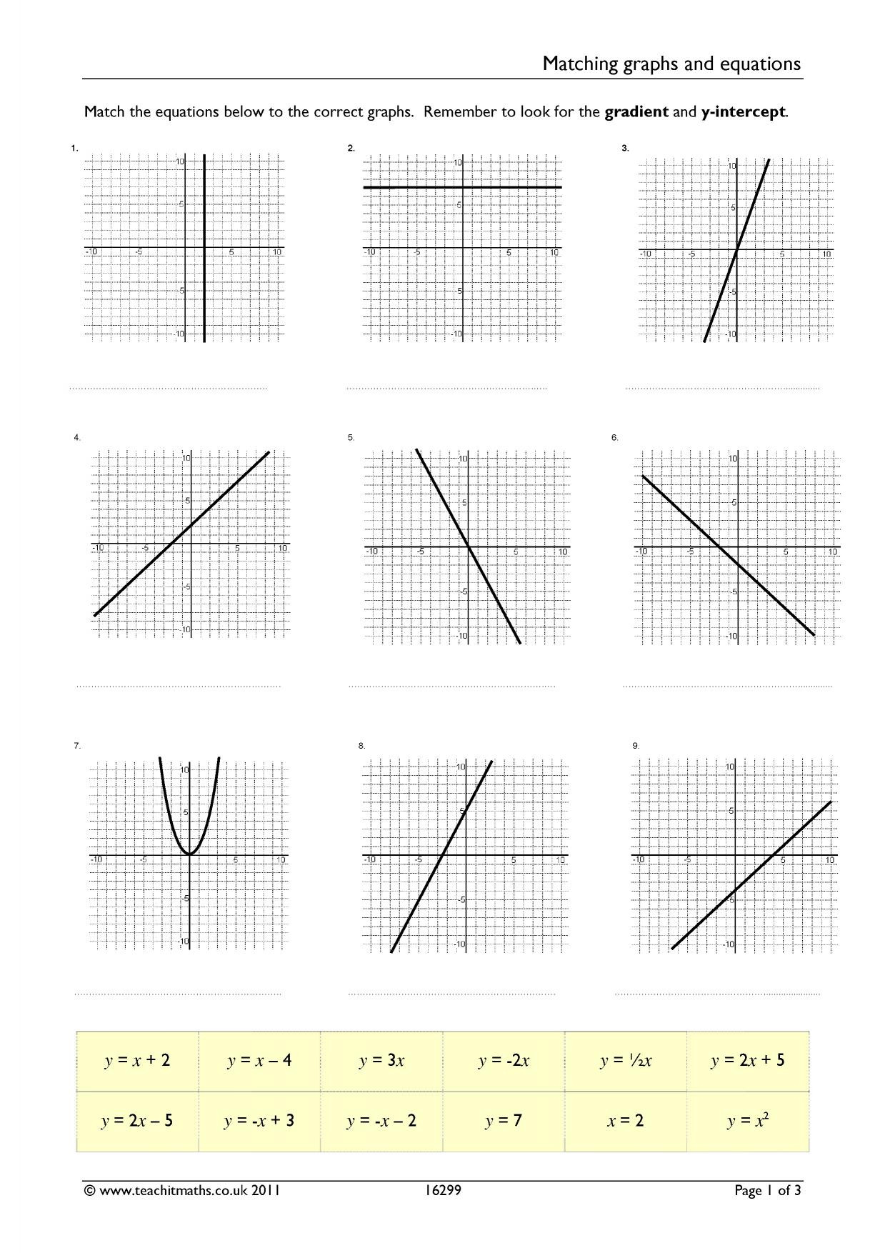 30 Graphing Linear Equations Worksheet Answers