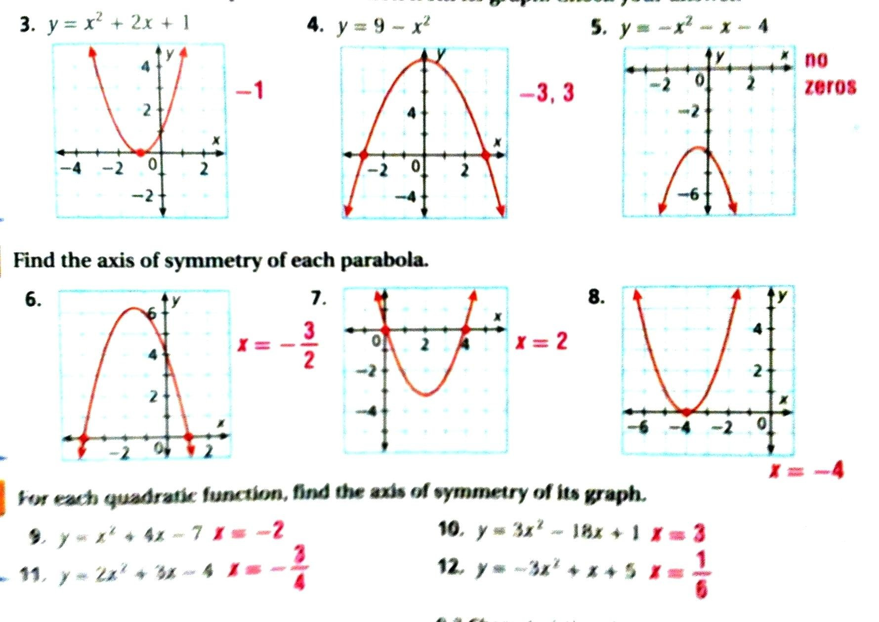 30 Graphing Quadratics Review Worksheet