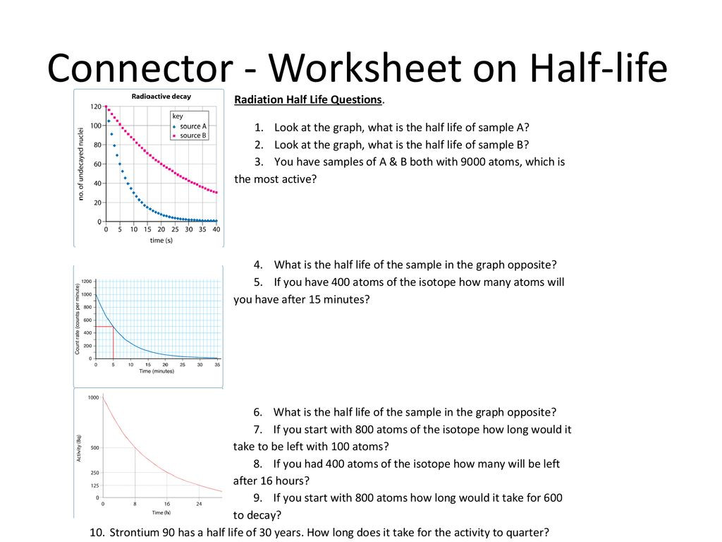 30 Half Life Worksheet Answers