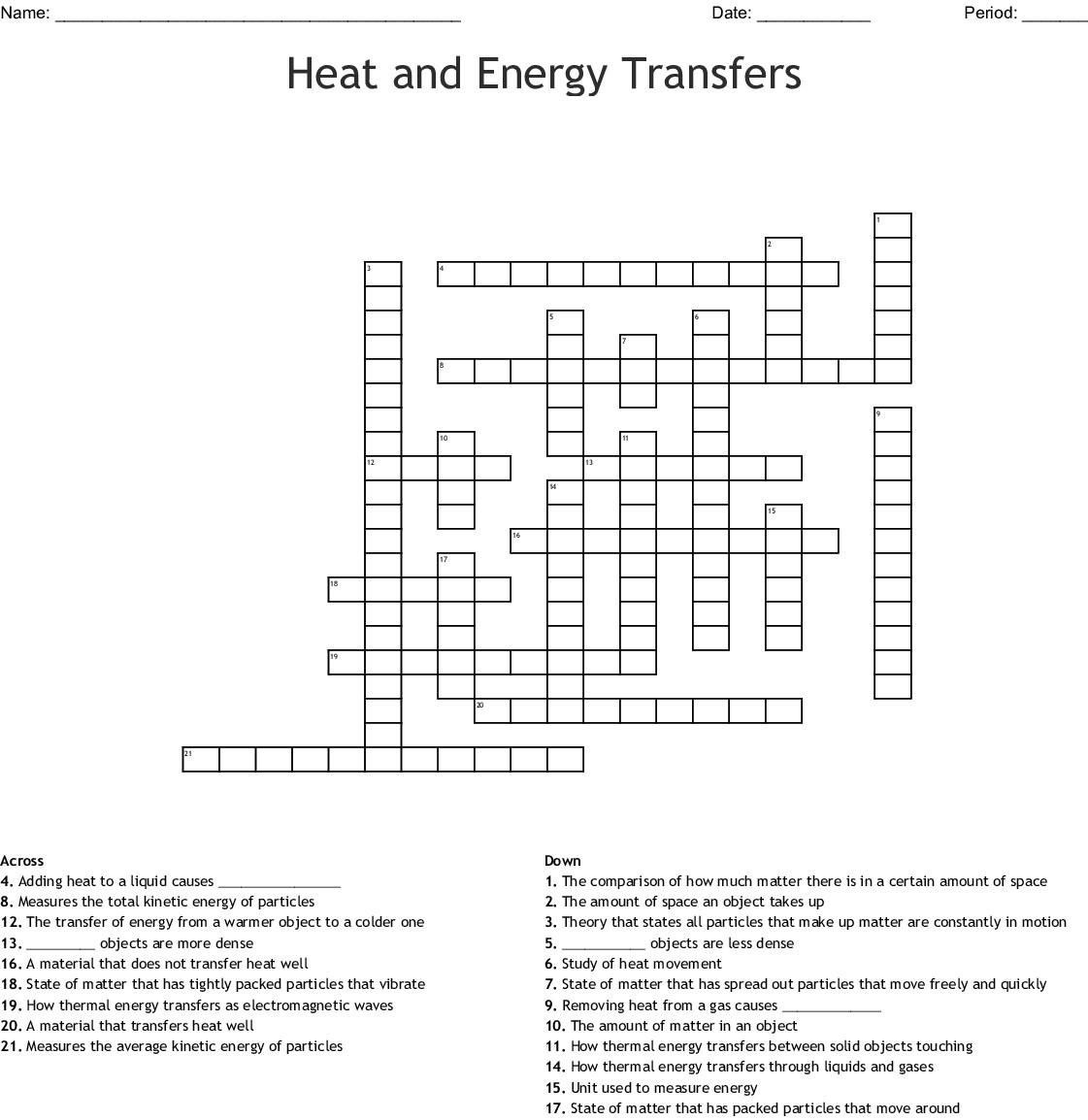 30 Heat Transfer Worksheet Answer Key