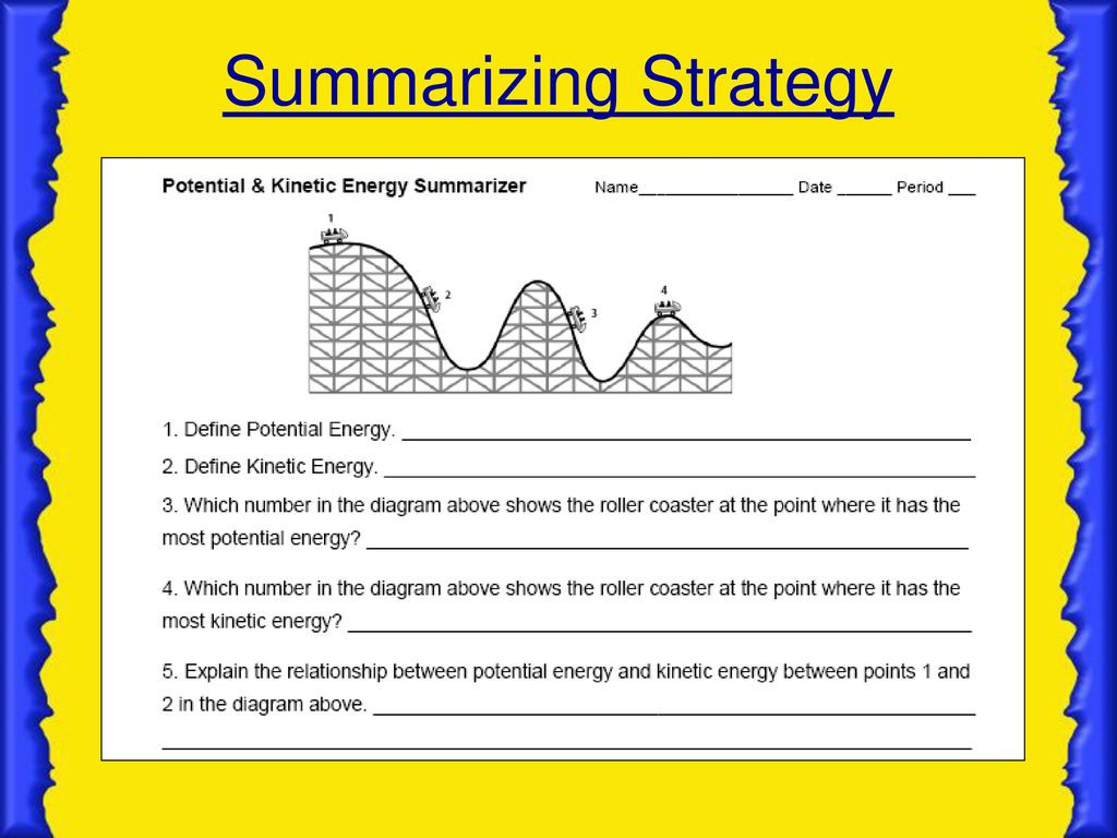 30 Kinetic And Potential Energy Worksheet