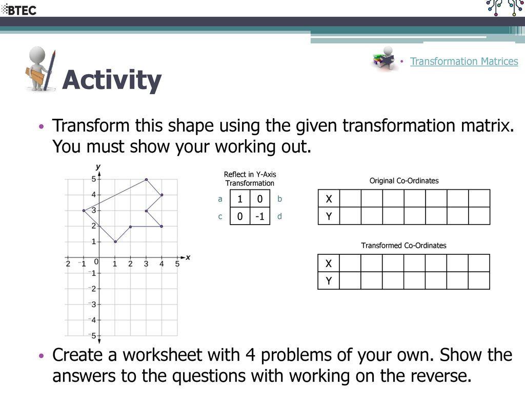 30 Matrices Word Problems Worksheet
