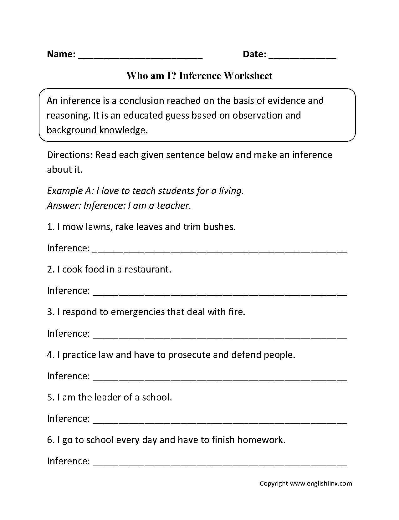 30 Observation And Inference Worksheet