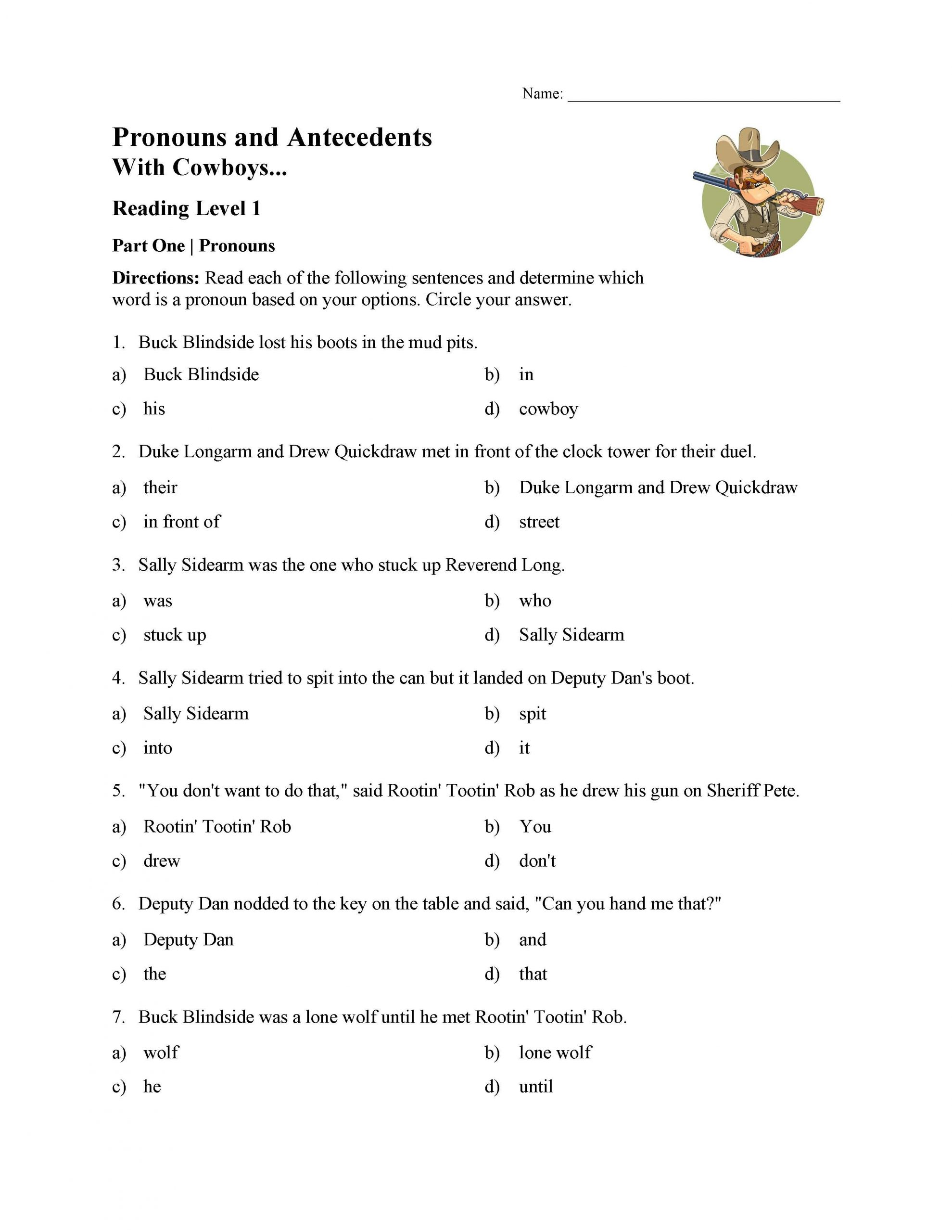 30 Pronouns And Antecedents Worksheet