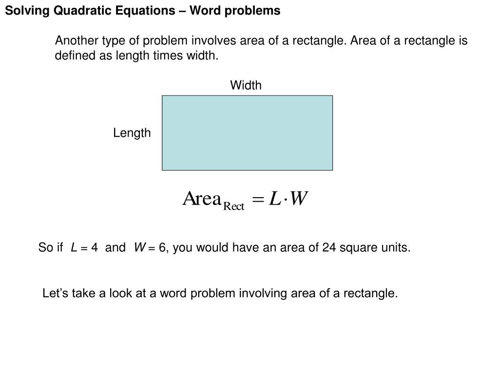 30 Quadratic Equations Word Problems Worksheet