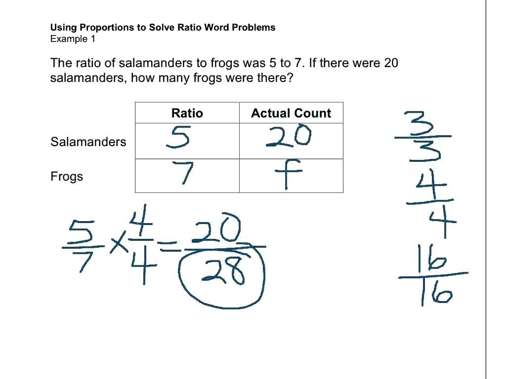 30 Ratios And Proportions Worksheet