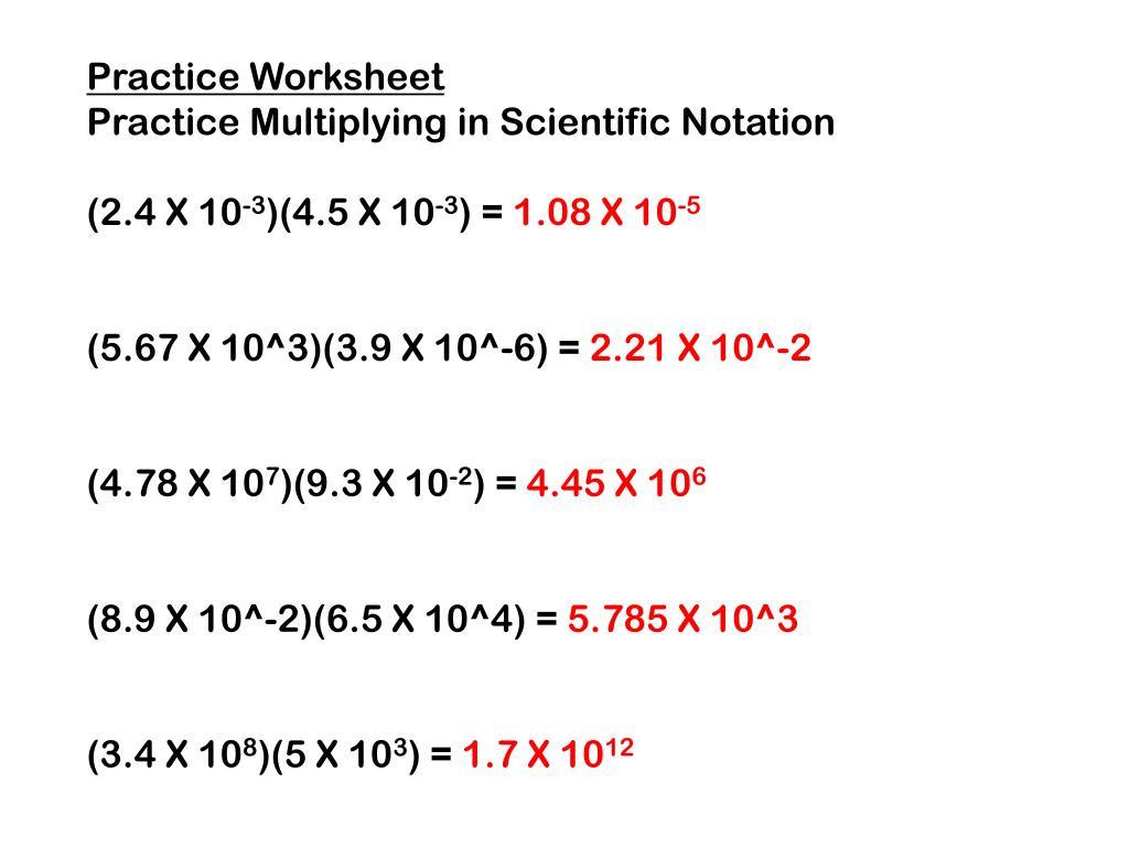 30 Scientific Notation Practice Worksheet