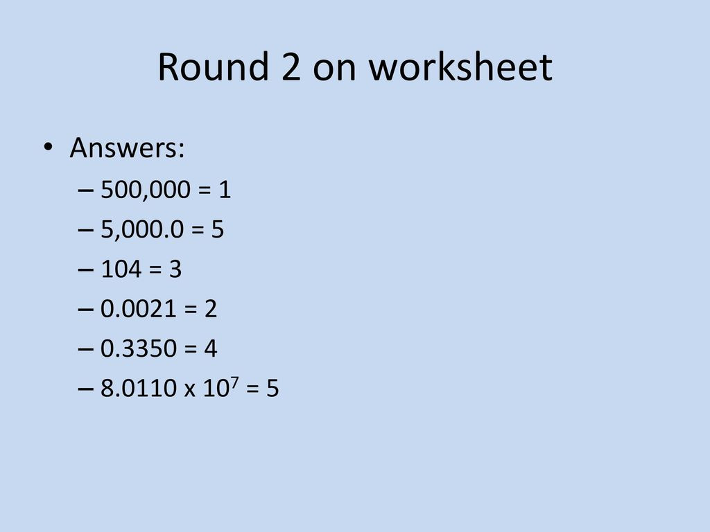 30 Sig Figs Worksheet With Answers