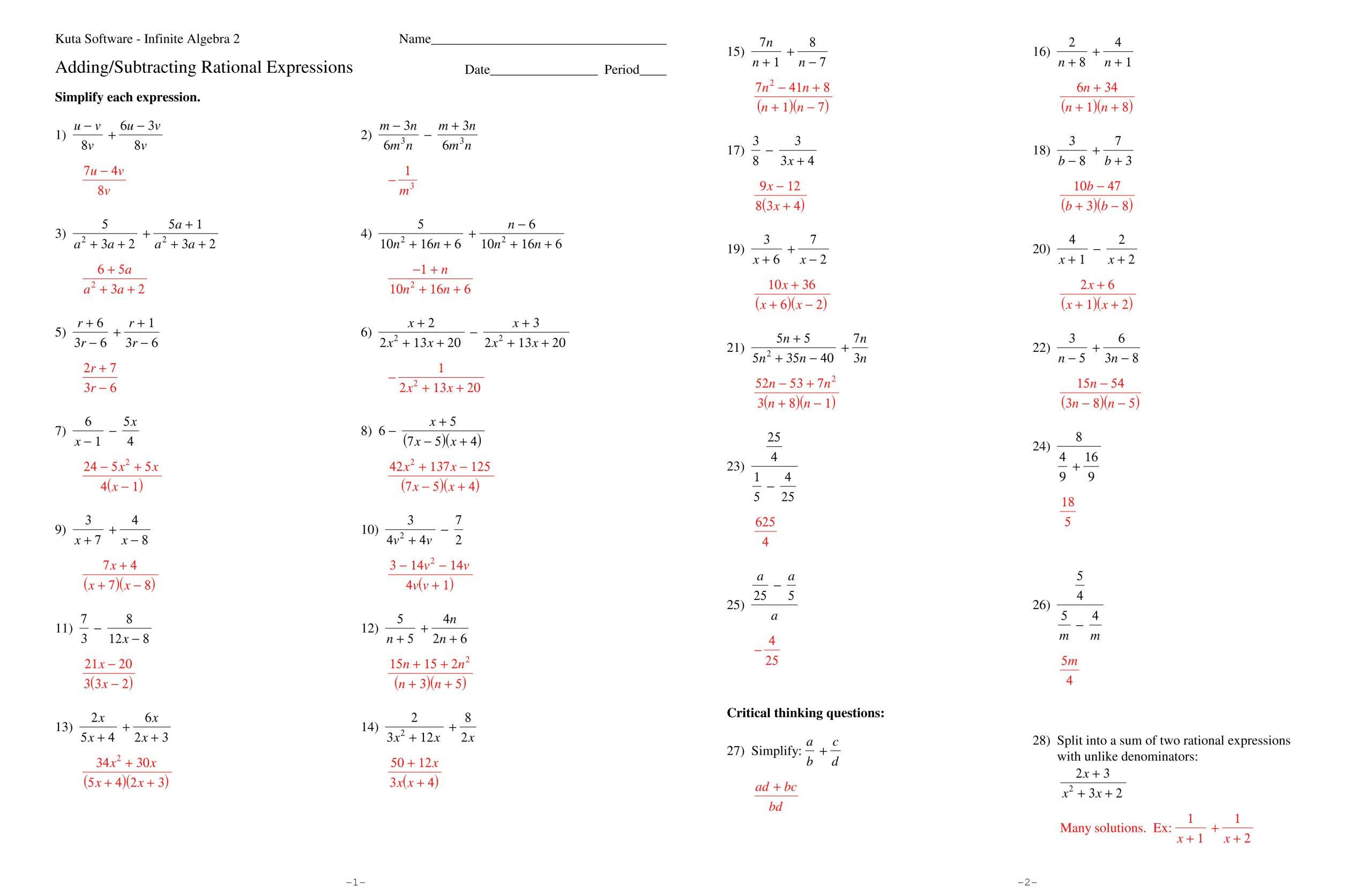 30 Simplifying Radicals Worksheet 1 Answers