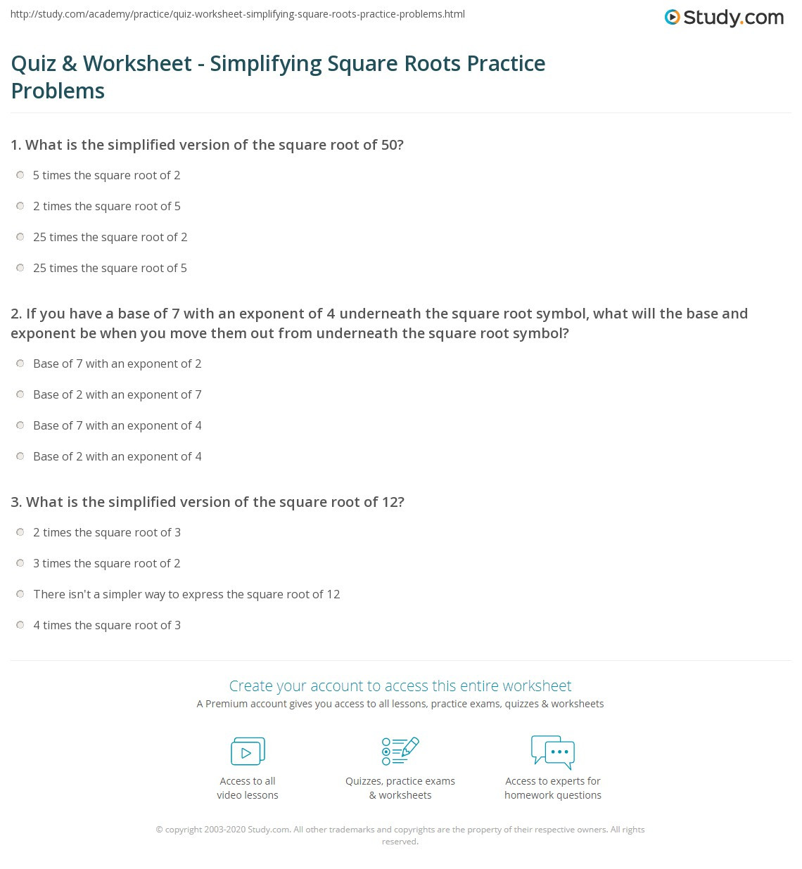 30 Simplifying Square Roots Worksheet Answers