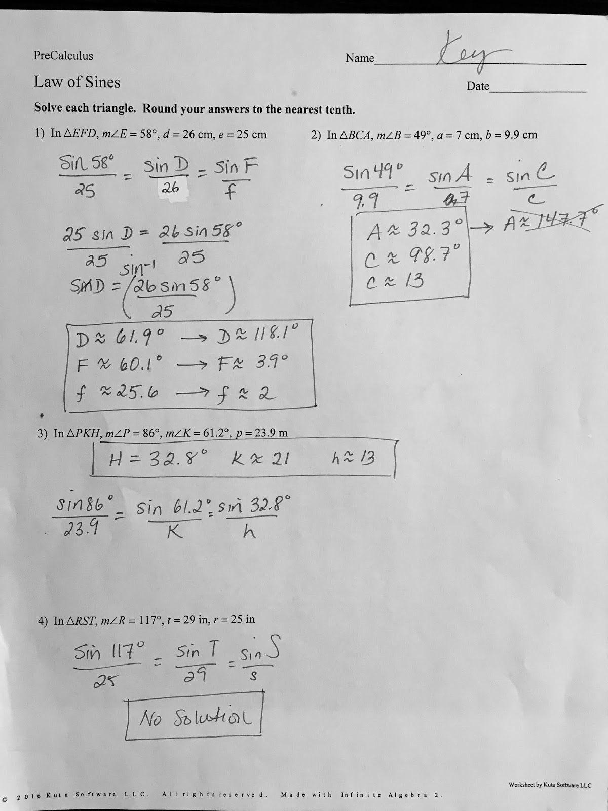 30 Solving Trigonometric Equations Worksheet Answers