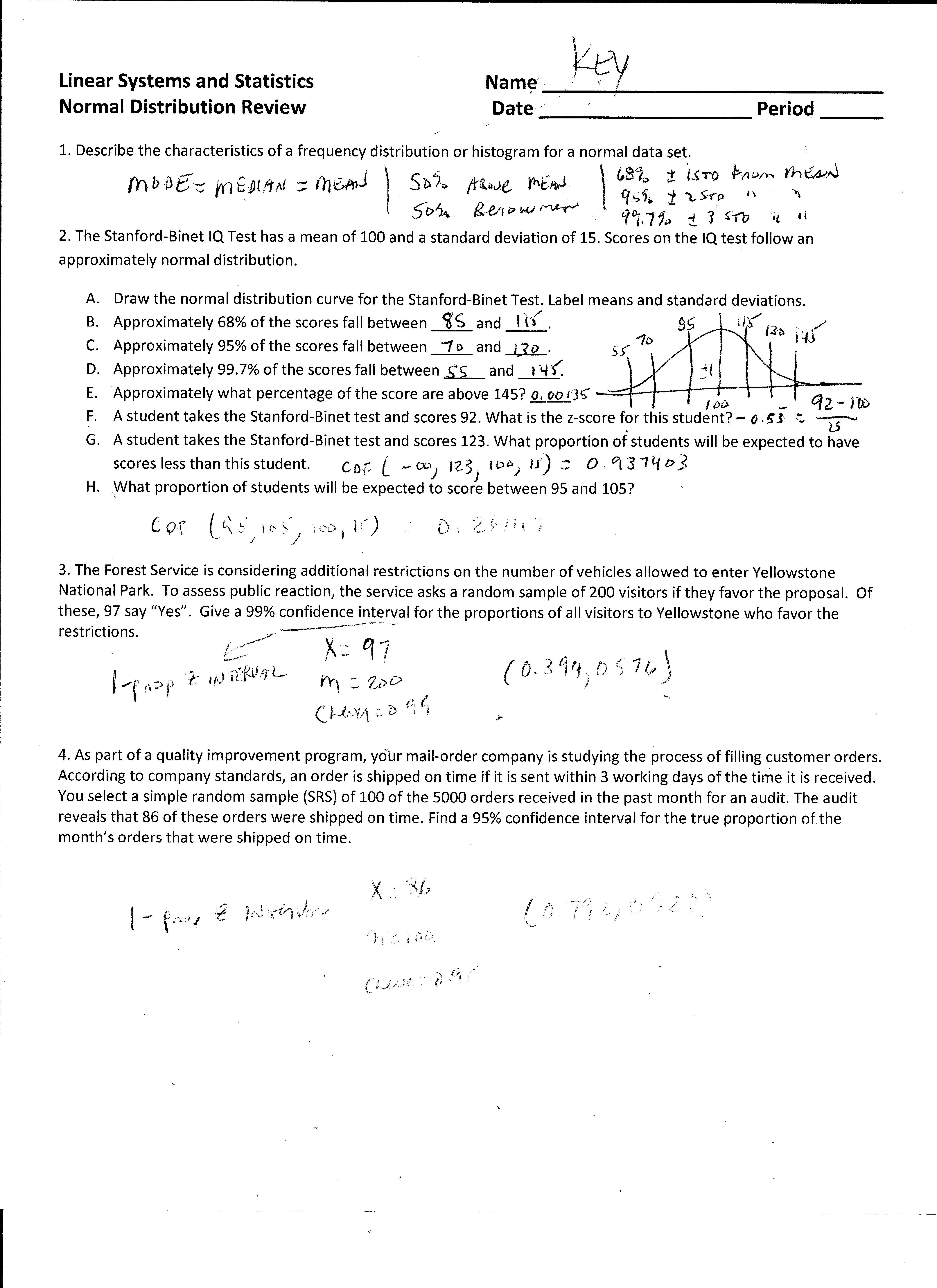 31 Standard Deviation Worksheet With Answers