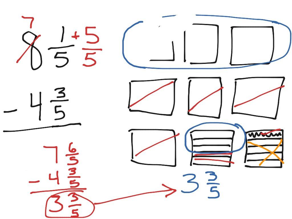 30 Subtracting Mixed Numbers Worksheet