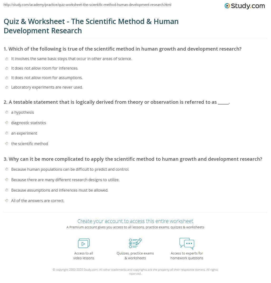 30 The Scientific Method Worksheet