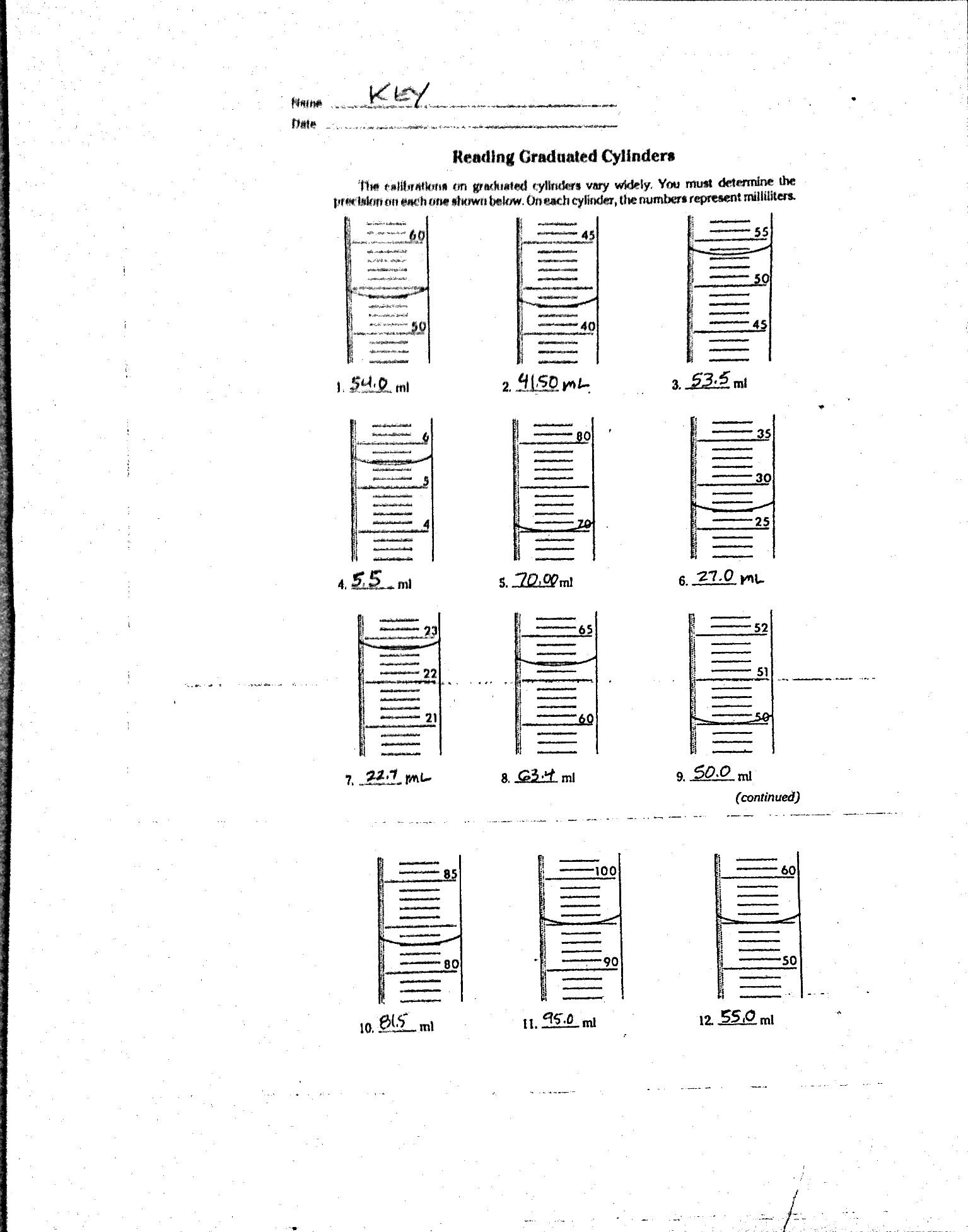 Triple Beam Balance Worksheet Education Template