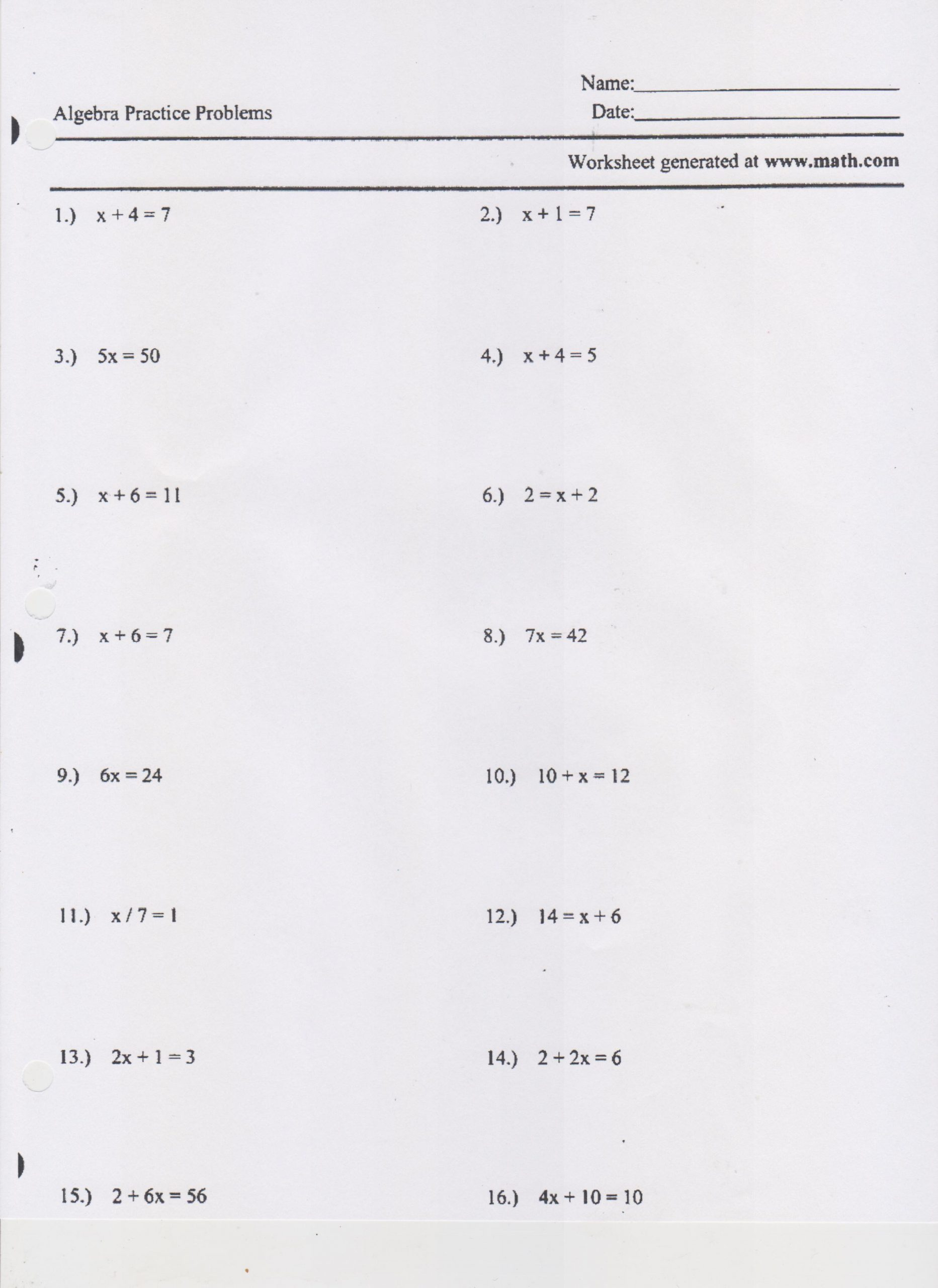 30 Two Step Equations Worksheet Answers