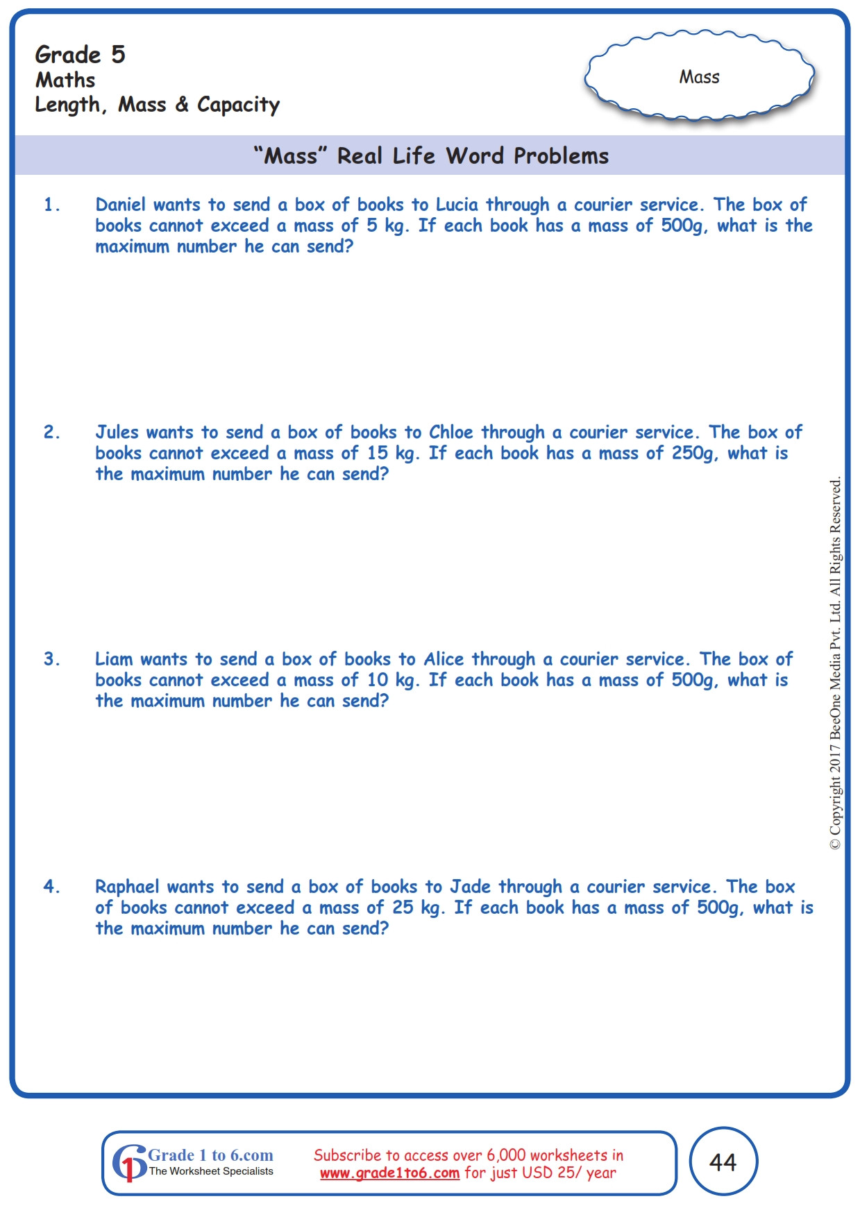 Unit Conversion Word Problems Worksheet Education Template