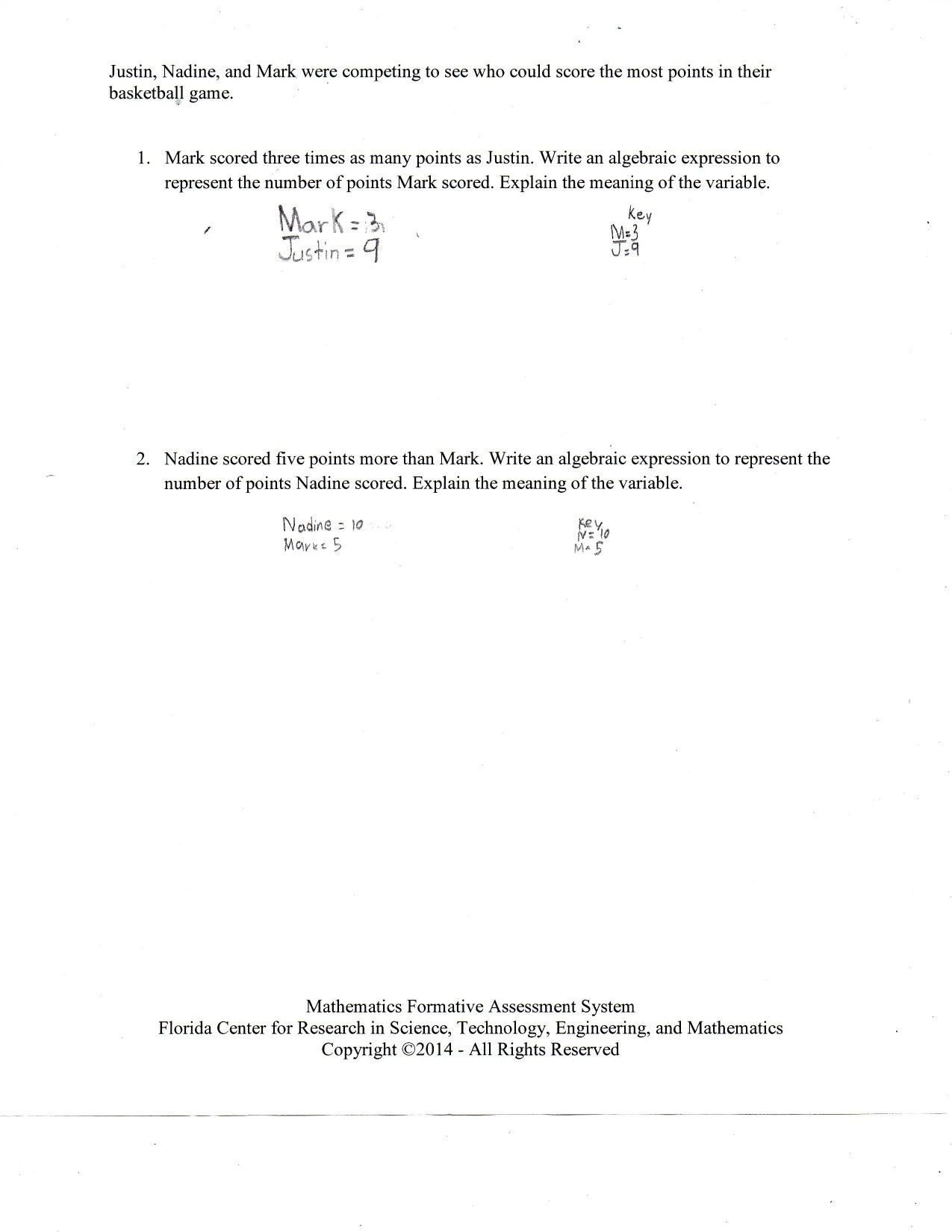 30 Writing Algebraic Expressions Worksheet