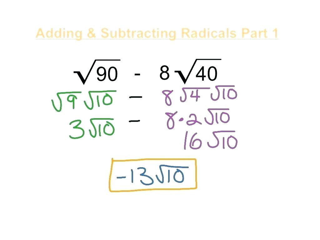 30 Adding And Subtracting Radicals Worksheet