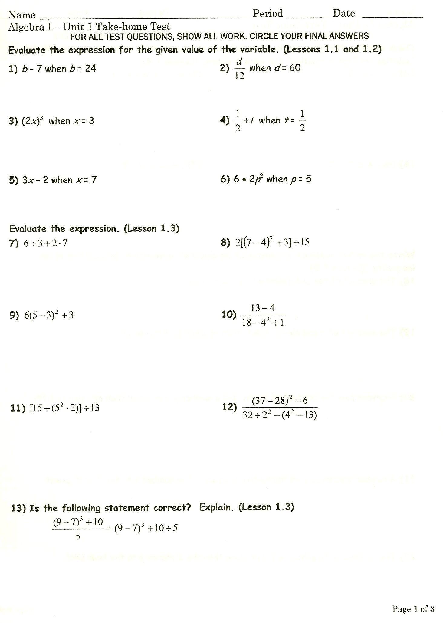 30 Algebra 2 Worksheet