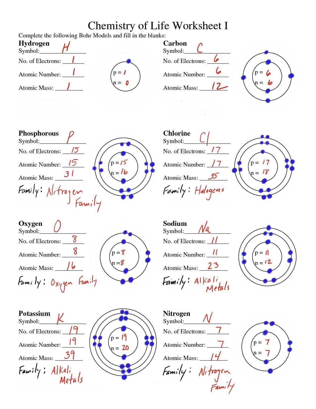 30 Bohr Model Worksheet Answers