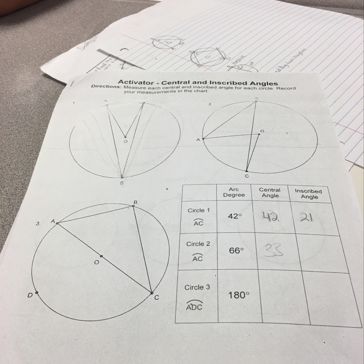 30 Central And Inscribed Angle Worksheet