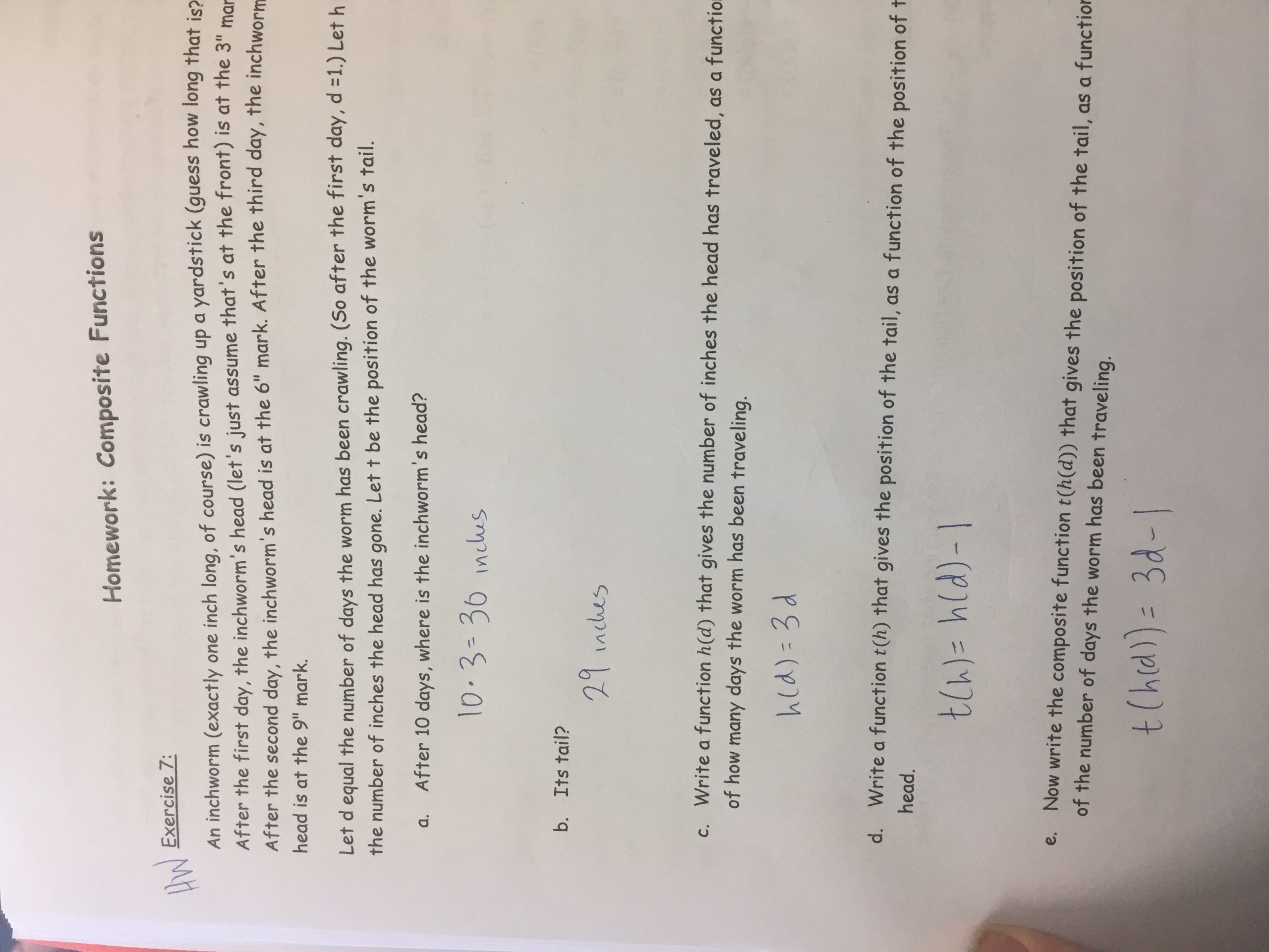 30 Composite Function Worksheet Answer Key