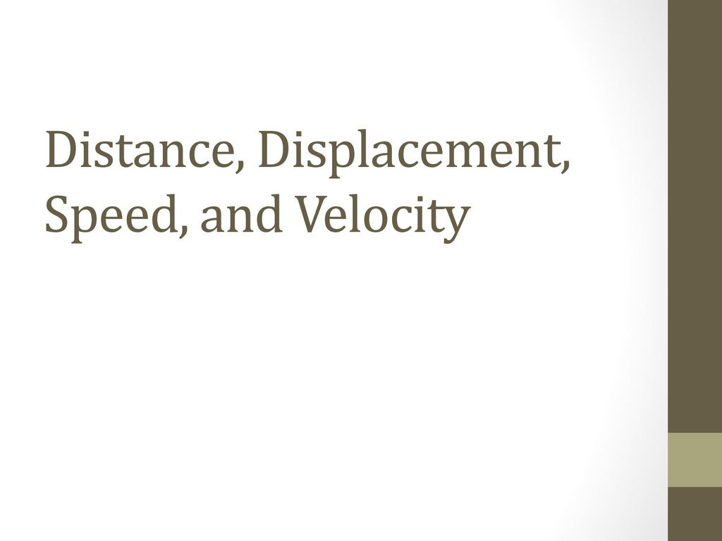 Distance And Displacement Worksheet Answers Education