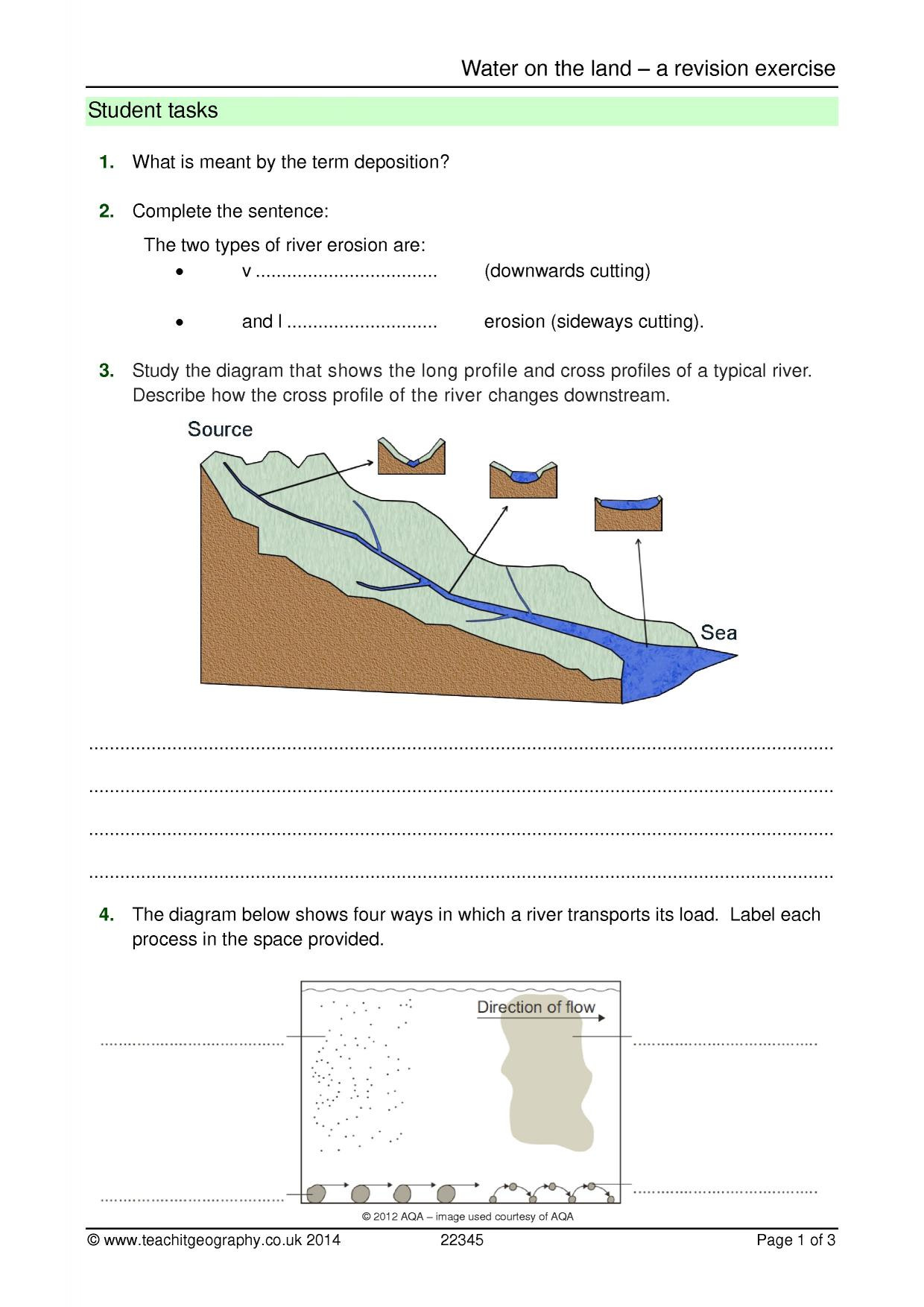30 Erosion And Deposition Worksheet