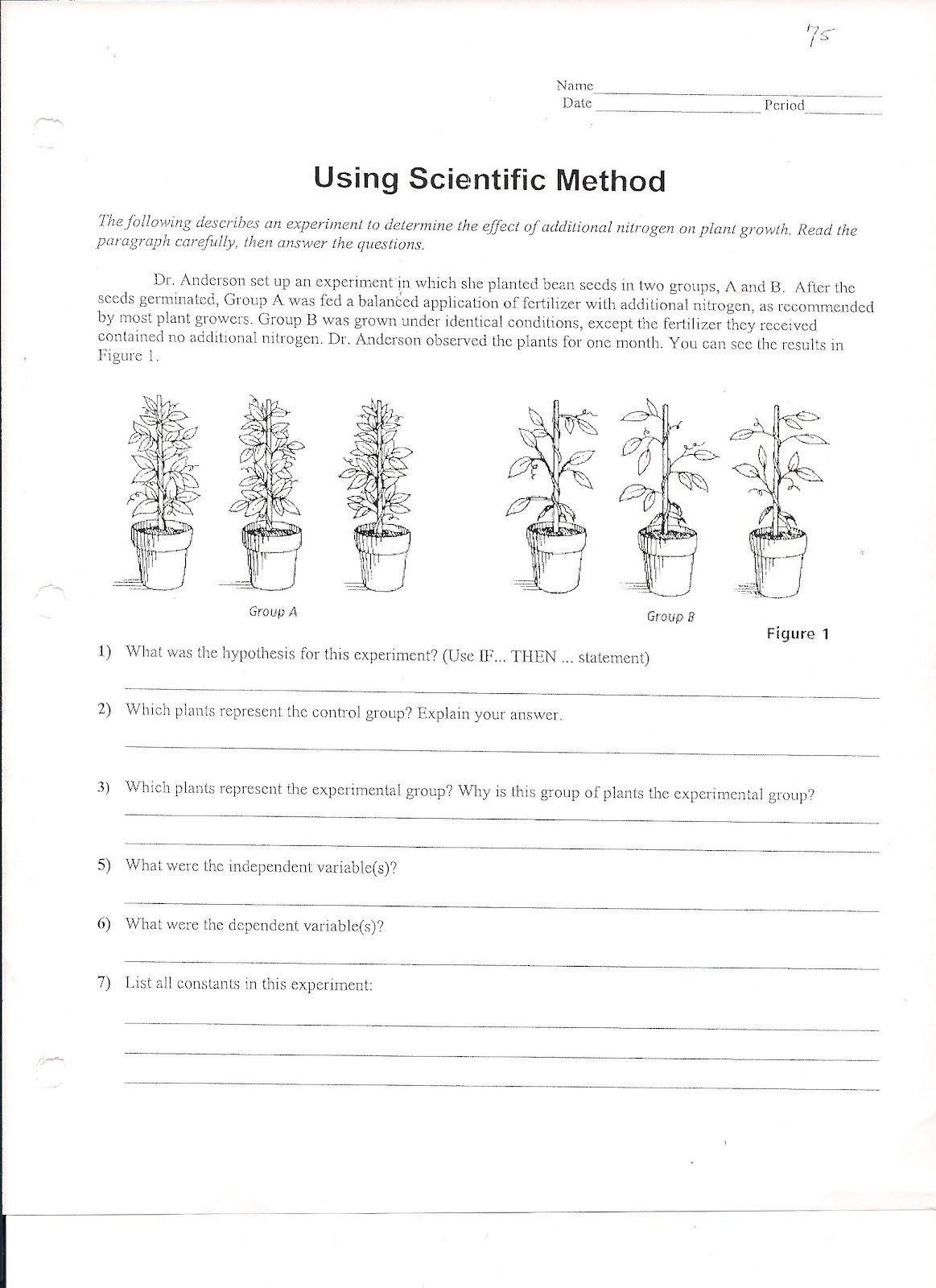 30 Experimental Design Worksheet Scientific Method